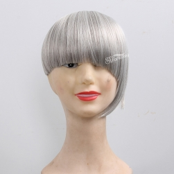 ST 2016 new style grey hair toupee for fashion lady with synthetic fiber