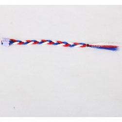 Three tone color small synthetic clip in hair braid for kids