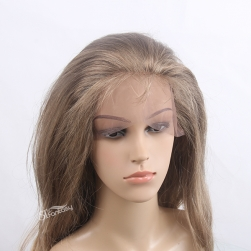 Popular long curly brown synthetic lace front wigs with real looking
