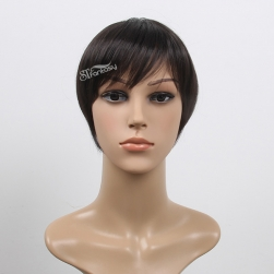 China toupee hair factory wholesale short straight synthetic hair toupee