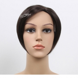 Guangzhou toupee factory wholesale short straight synthetic hair toupee