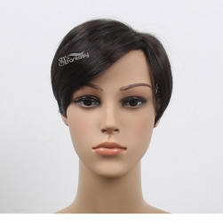 ST popular style synthetic hair toupee black color for man or women