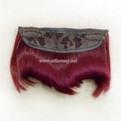 2016 New fring bang clip in hair extension front with high temperature fiber