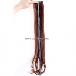 Make your hair more full natural color long clip in extension hairpiece wholesale