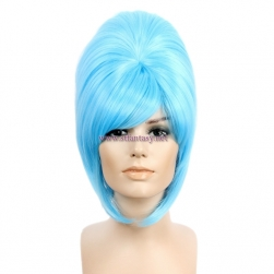 Cheap Wigs Wholesale Blue Synthetic Hair Beehive Wig For Party