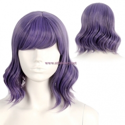 Wig Manufacturers Wholesale Short Curly Hair Purple Synthetic Wig For Party