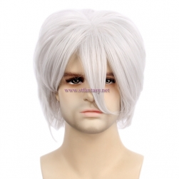 Gintama Cosplay Wig Mens Short Silver Gray Wig For Party