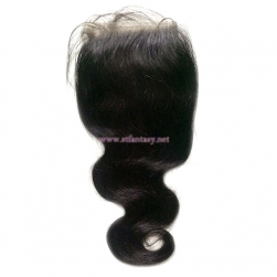 Remy Indian Hair Extensions Wholesale 4x4 Hand Made Lace Frontal Body Wave Hair Toupee For Women