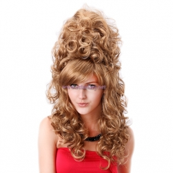 Shenzhen Wig Factory-Long Curly Wavy  High Hairpin Special Design Wig