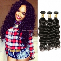 ST Fantasy Deep Wave Brazilian Hair 3Bundles African American Hairstyle