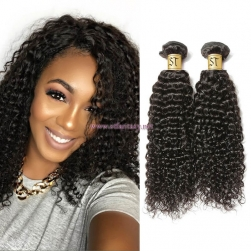 ST Fantasy Brazilian Curly Human Hair Weaves 4Bundles Deals