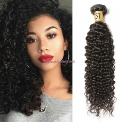 ST Fantasy Malaysian Jerry Curly Human Hair 3Bundles Weft Natural Color