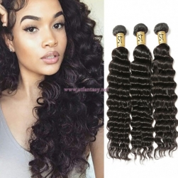 ST Fantasy 4Bundles Peruvian Deep Wave Virgin Hair Weave Natural Color