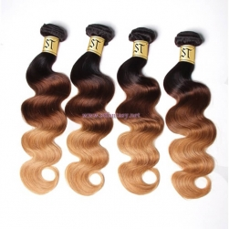 ST Fantasy Ombre Body Wave 4Bundles Virgin Hair With Closure 1b427