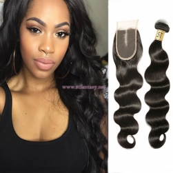 ST Fantasy 4Bundles Body Wave With Malaysian Lace Closure Human Hair
