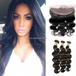 ST Fantasy Malaysian Hair 3Bundles With Lace Frontal Closure