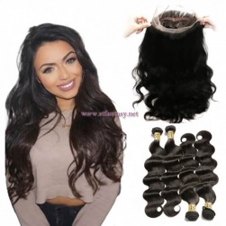 ST Fantasy 360 Lace Frontal Closure Body Wave With 4Bundles Human Hair Weave