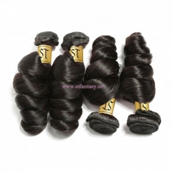 ST Fantasy Brazilian Loose Wave Lace Frontal Closure With 4 Bundles Virgin Human Hair