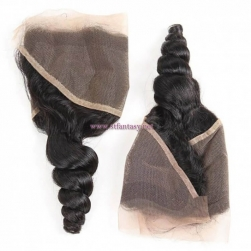 ST Fantasy Peruvian Loose Wave 4 Bundles With Lace Frontal Free Part Closure