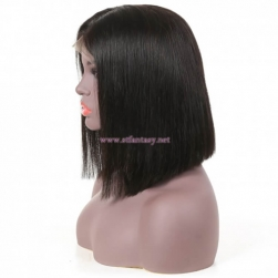ST Fantasy Lace Front Middle Part Short Bob Wigs Human Hair