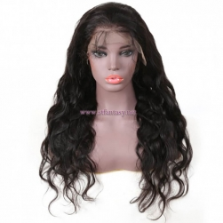 ST Fantasy Pre-plucked Body Wave Lace Front Wig 100% Human Hair Natural Black